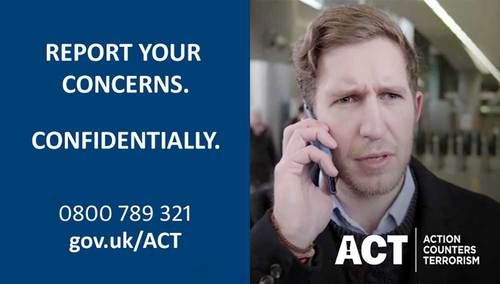 RT @BTP: If you see something that looks suspicious, don't delay. Just ACT.  Call 0800 789 321 or text us on 61016. https://t.co/rSfkkKryKt