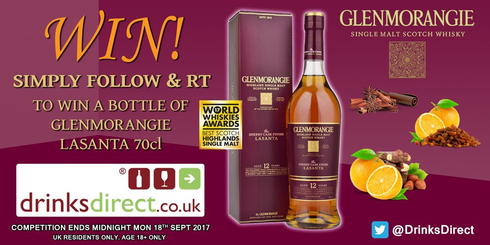 #MondayMotivation! It&#39;s your last chance to enter our Glenmorangie Lasanta Whisky #Competition. Simply RT &amp; FOLLOW us for a chance to #win!<br>http://pic.twitter.com/Qyzg9AJYUH