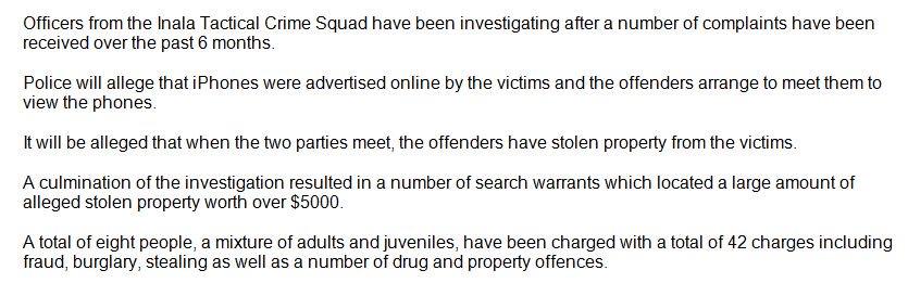 Offenders online database