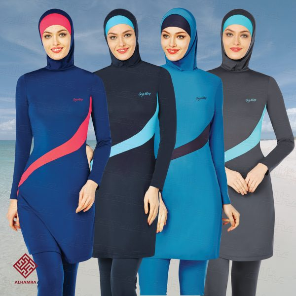 fcf8bf017d Burkini swimsuit is a multi colored swimsuit for women which is stretchable  suit.