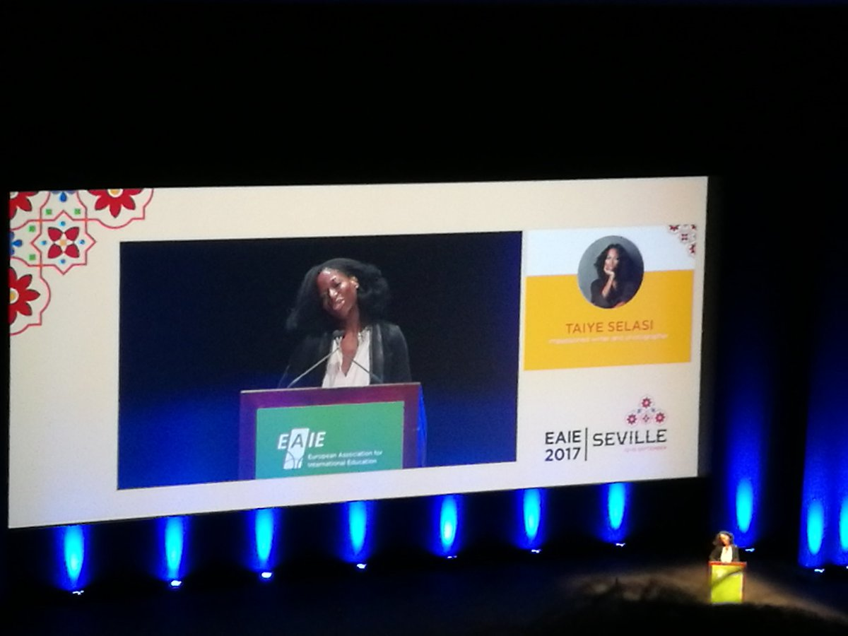 Taiye Selasi, amazingly inspirational closing plenary with a final standing ovation from all audience @TheEAIE #EAIE2017 <br>http://pic.twitter.com/L9HZrKKBvE
