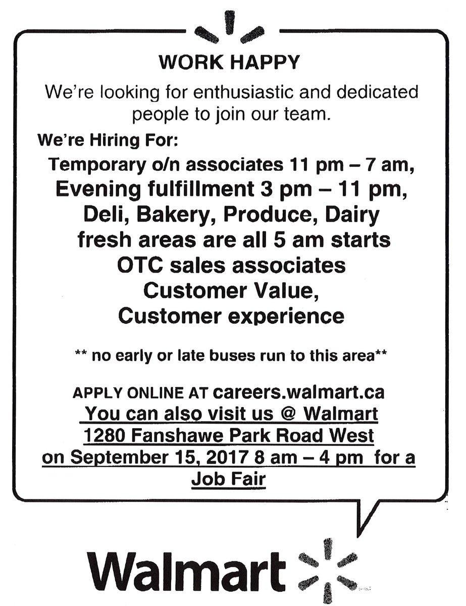 CESFanshawe On Twitter Walmart Job Fair TODAY From 8am