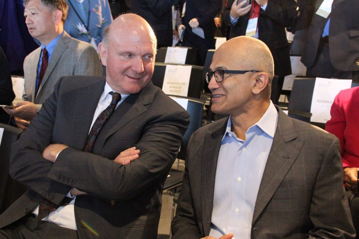 Thrilled by the response apple ceo tim cook said in a tweet that it - Steve Ballmerverified Account Steven_ballmer