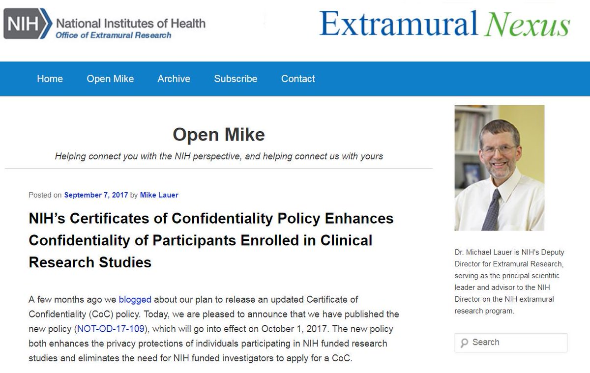 Extramural research twitter were enhancing confidentiality extramural research twitter were enhancing confidentiality for clinical research study participants learn how in this open mike blog post xflitez Image collections