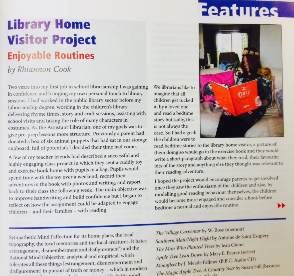 Ooo la la! I am now a PUBLISHED School Librarian! Check out my article in @uksla magazine! (Hope you like it). #Iamalibrarian #schoollibrary<br>http://pic.twitter.com/6KkYeFqsOW