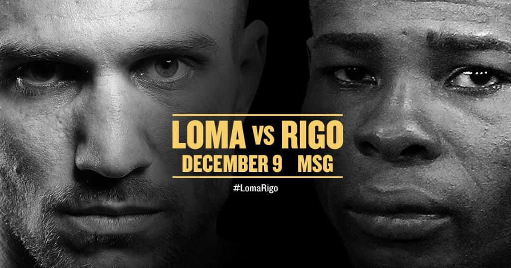It's on.   #LomaRigo | Dec. 9 | @ESPN https://t.co/VfuJWf7vVS