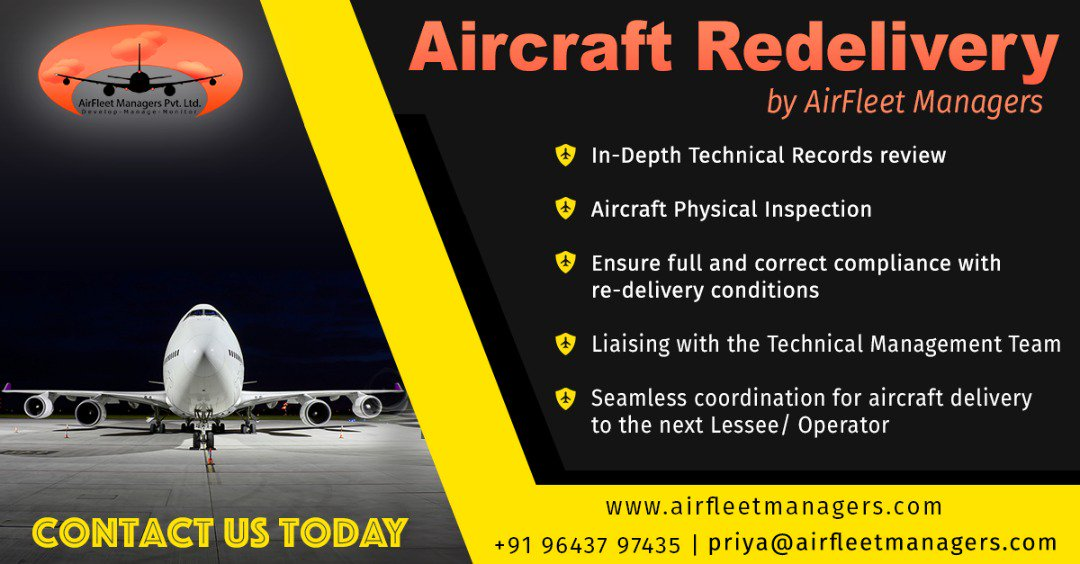 Aircraft Re-Delivery by Airfleet Managers. To know more click here:  http://www. airfleetmanagers.com  &nbsp;    #aircraftDelivery #aircraftRedelivery<br>http://pic.twitter.com/jFARY7wFlH