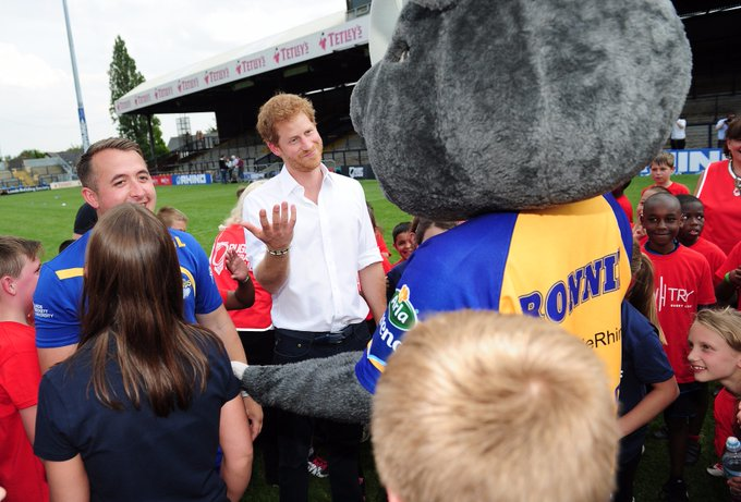 Rhinos on message OneRonnieRhino: Happy birthday to my good friend and TheRFL Patron HRH Prince Harry  From Leed