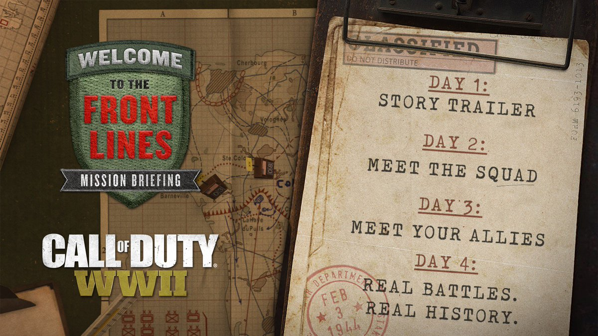 New Call Of Duty: WW2 Trailer And More Details Coming This Week