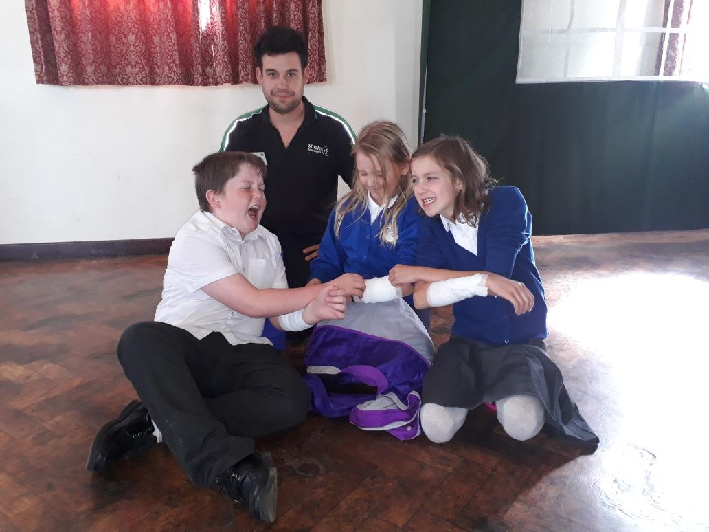 Year 6 learning first aid skills at Lifeline #lifeskills #oswestryrotaryclub #stjohnsambulance