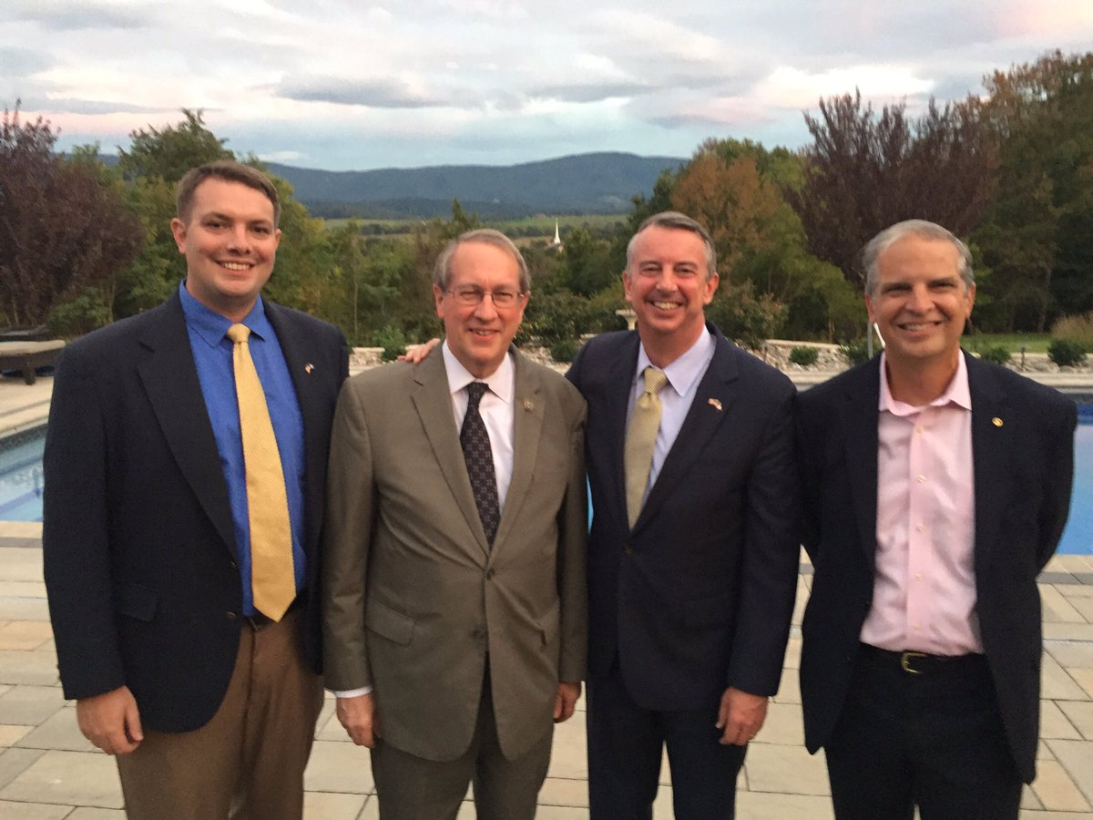.@EdWGillespie is running a race we can be proud of. Glad to be able to attend his event last night in Lacey Spring.