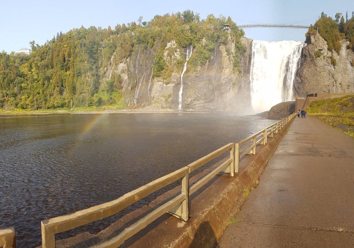 Montmorency falls are stunning in the sun! #miccai2017 <br>http://pic.twitter.com/4DrYRp6GV2