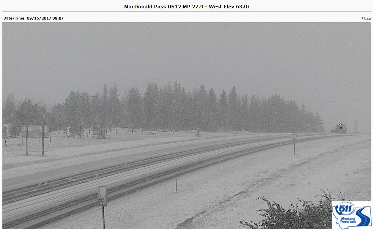 8:23am - If planning to travel over mountain passes in central Montana this morning, here is a view of what to prepare for.  #mtwx