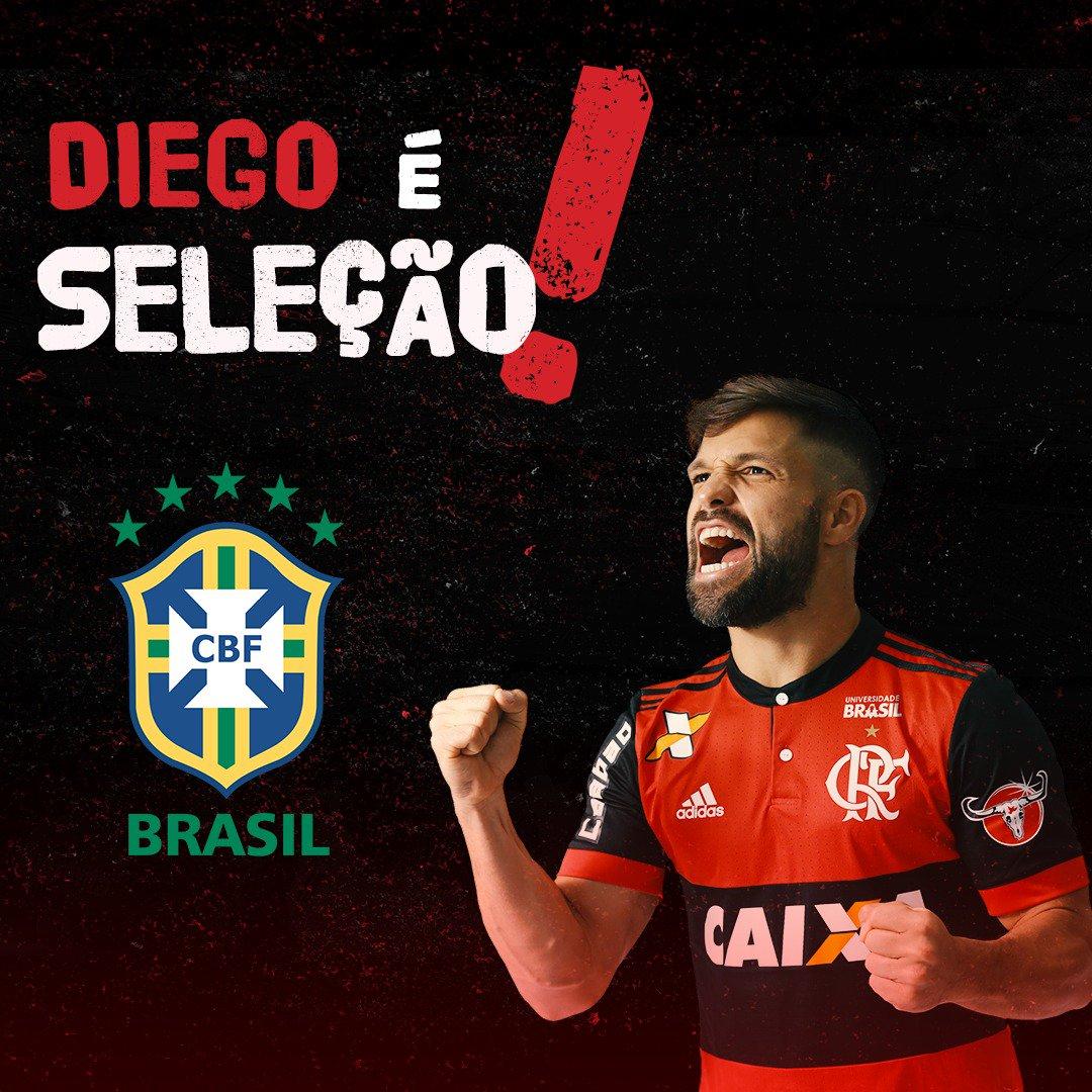 Diego é Seleção! O meia foi convocado para enfrentar Bolívia e Chile, nos dias 5 e 10 de outubro #Flamengo