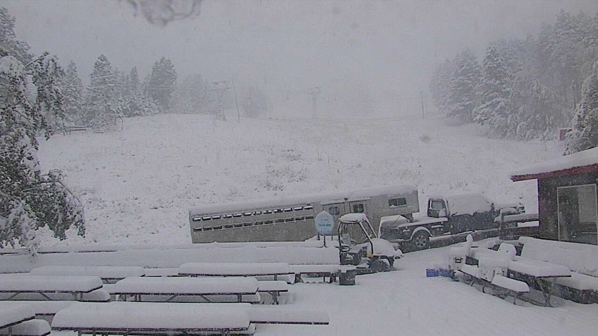 Mother nature decided to go from summer straight to winter across the mountains of SW and NC Montana. Photo from Great Divide.  #mtwx