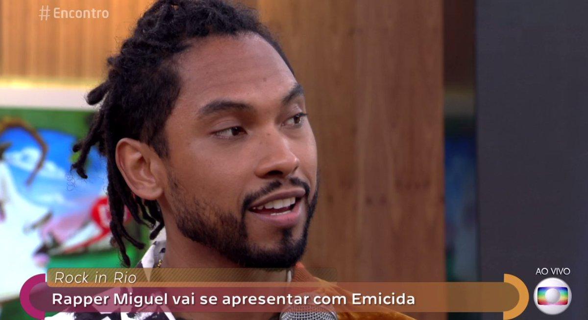 Aquele nervosinho de #RockinRio2017 tá logo ali e vai ter rapper Miguel no palco Sunset! #Encontro