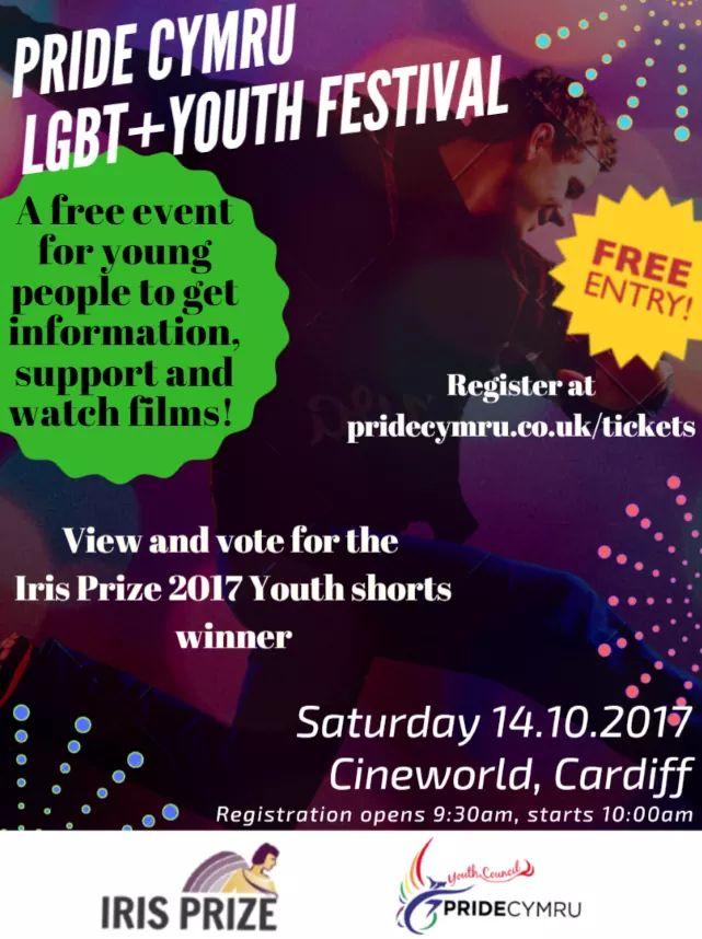 PRIDE CYMRU LGBT+ YOUTH FESTIVAL A free...