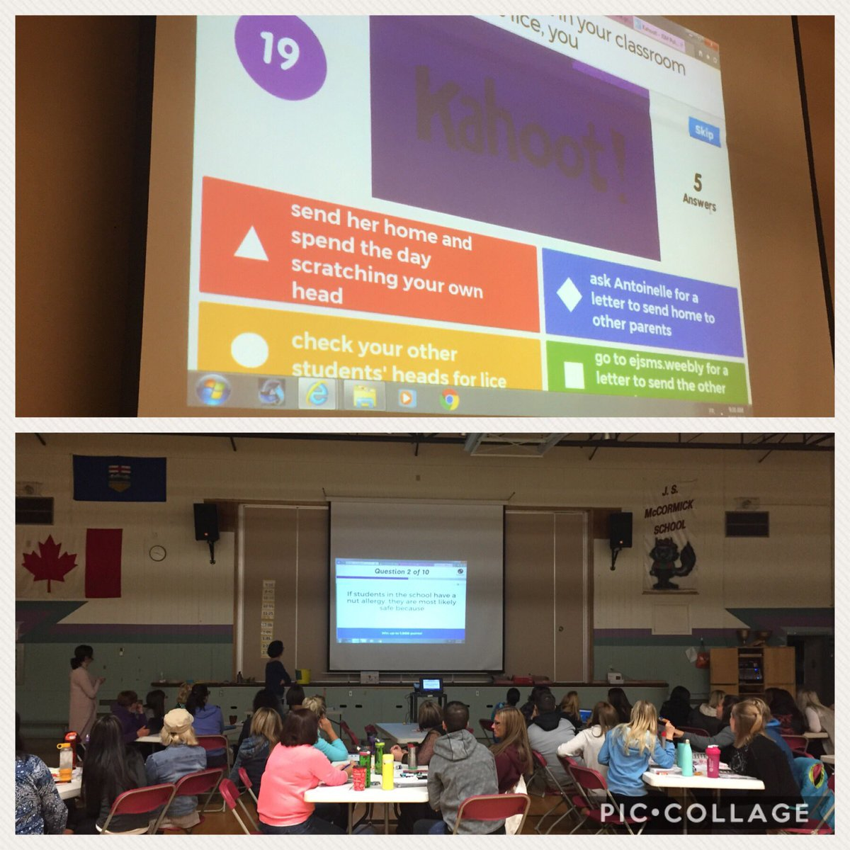 Ecole J S Mccormick On Twitter Kicking Off The Pd With A Kahoot