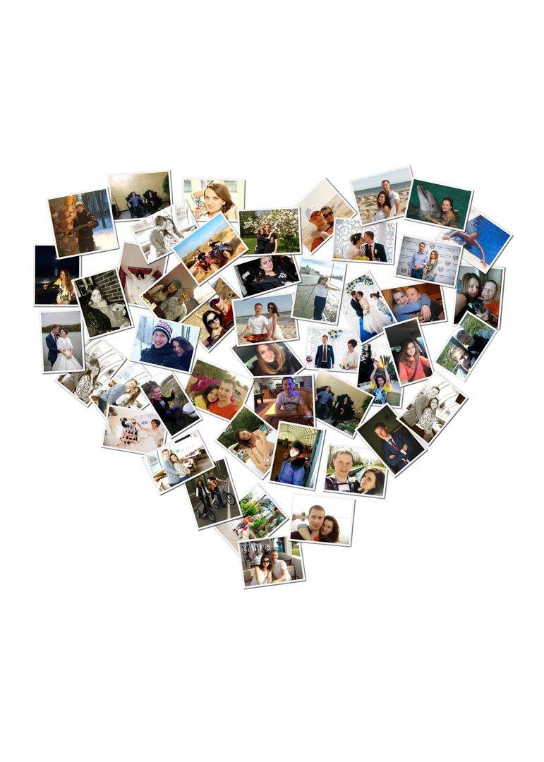 также, сделать много фоток на сердце словам