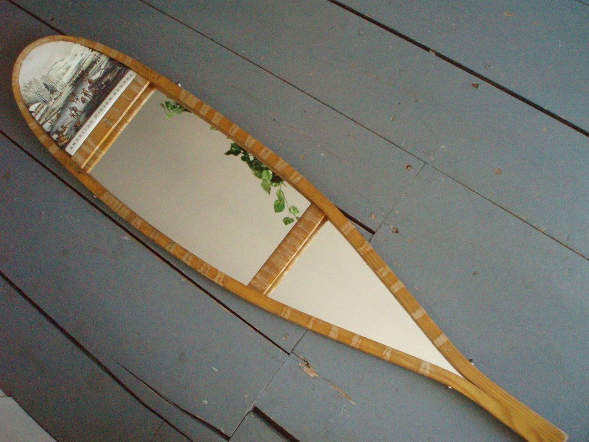BIN $120. Wood Snowshoe Mirror with Currier &amp; Ives Print #Repurposed  http:// ebay.to/2zbqkgE  &nbsp;   <br>http://pic.twitter.com/sDgkIgurDs