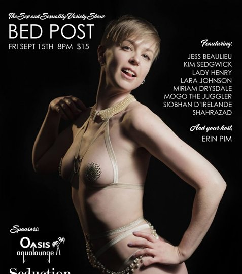 Erotic bed post