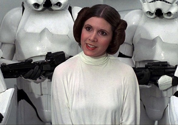 Image result for princess leia no bra star wars