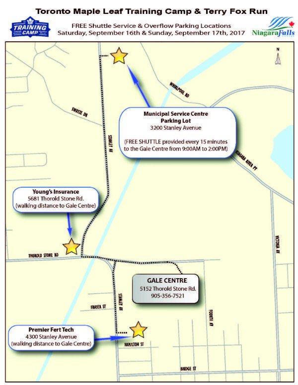 Niagara Falls Canada On Twitter Three Additional Parking Locations - Map run distance free