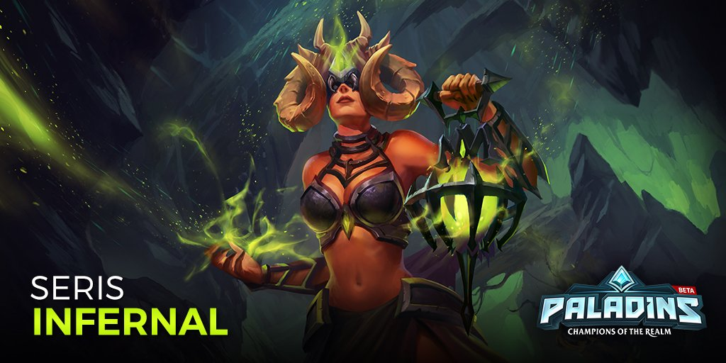 Paladins The Game On Twitter She Ll Make Your Dreams Come True And Your Nightmares Infernal Seris Beckons In Ob59 The latest tweets from paladins: twitter