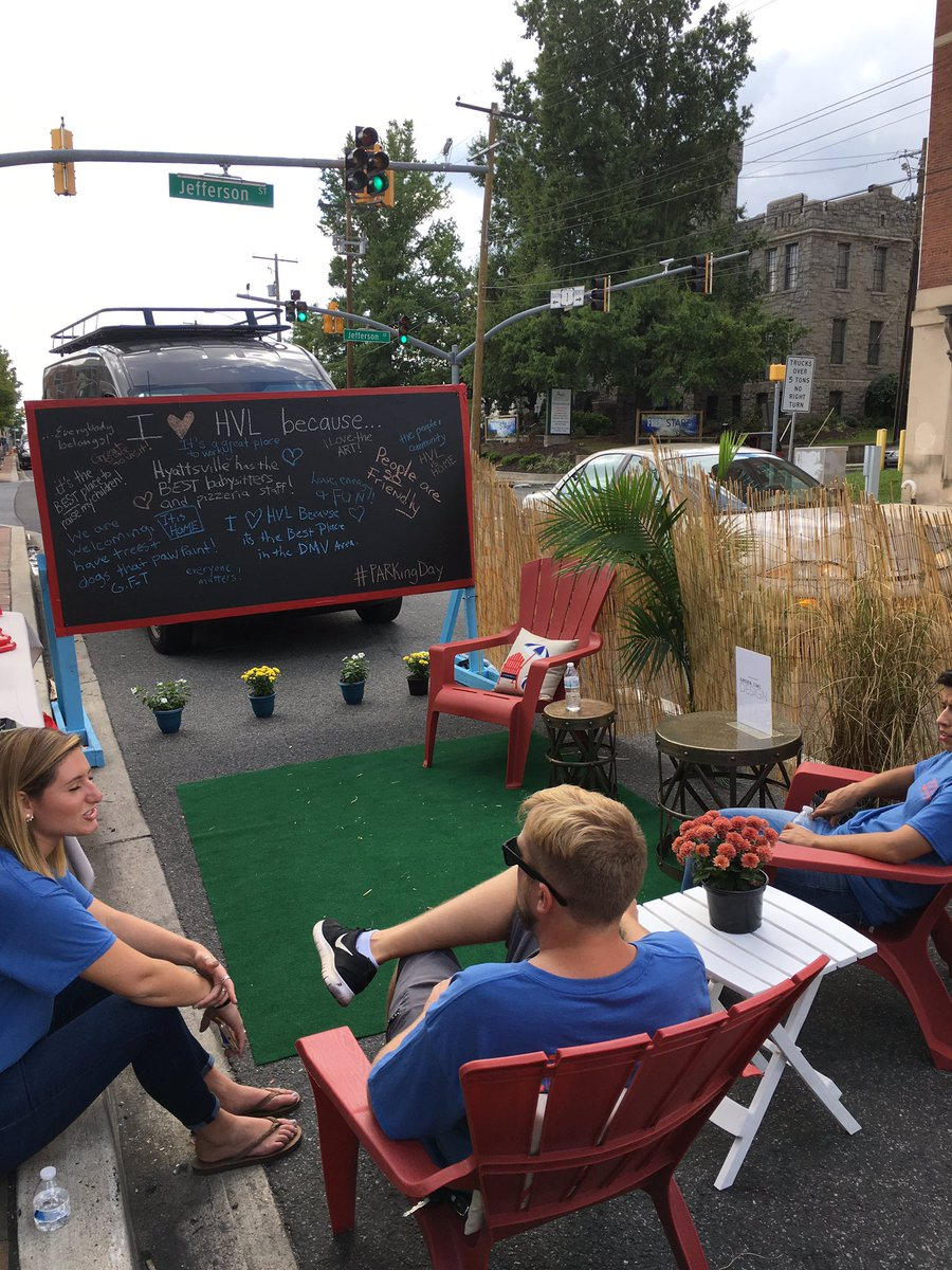 Katie Gerbes On Twitter Parklet 2 Is Up In Hyattsville For PARKingDay Were At The Shops Arts District All Afternoon