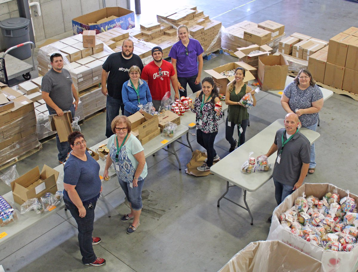 #Stryker is here assembling After School Packs for kids in #Kalamazoo County! #VolunteerLove #Kalamazoo #FeedKzoo #HungerActionMonth<br>http://pic.twitter.com/M9pgKT60OT