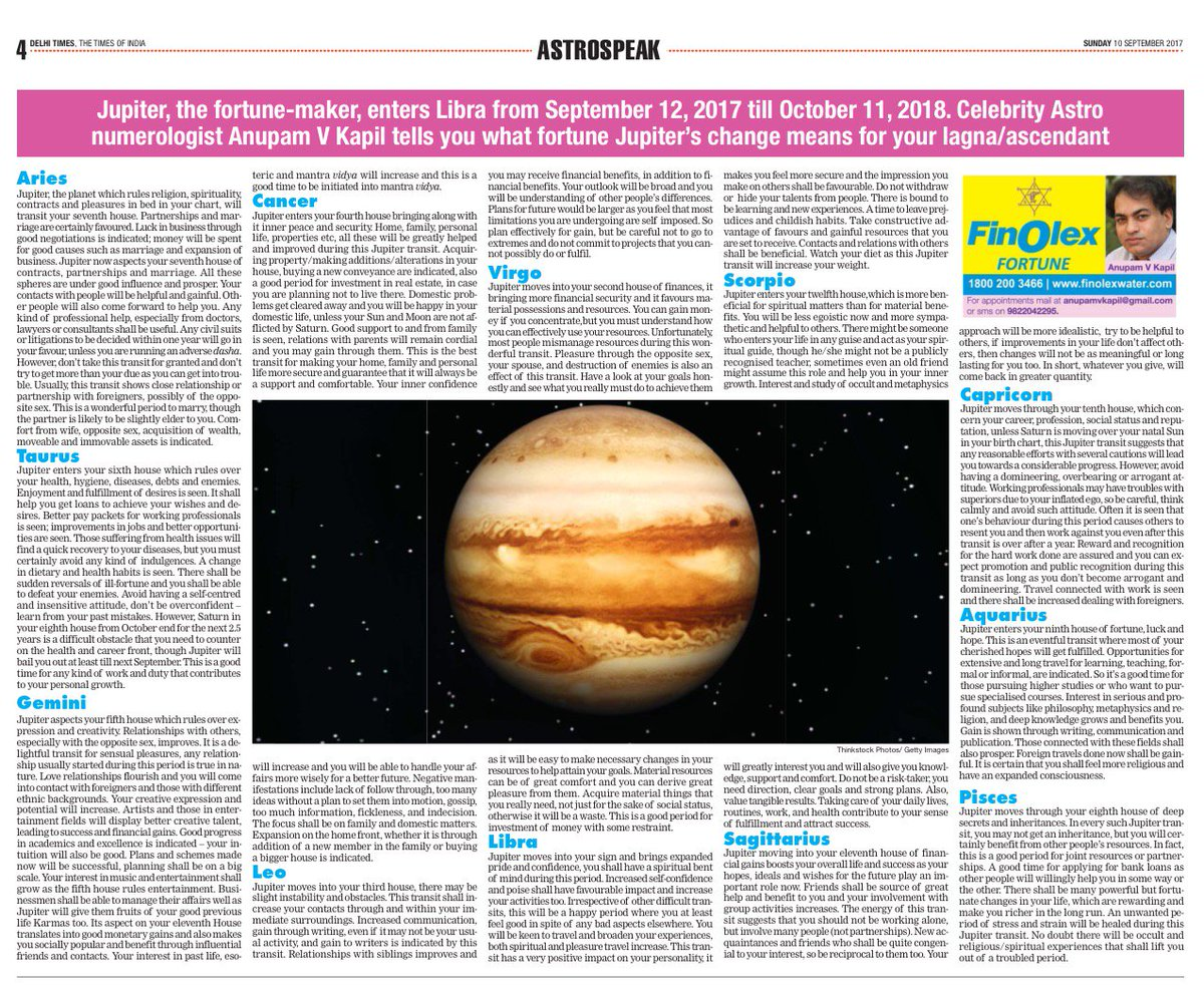 times of india astrology anupam v kapil