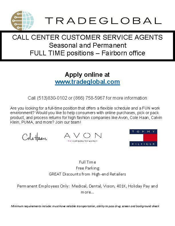 For a call center job