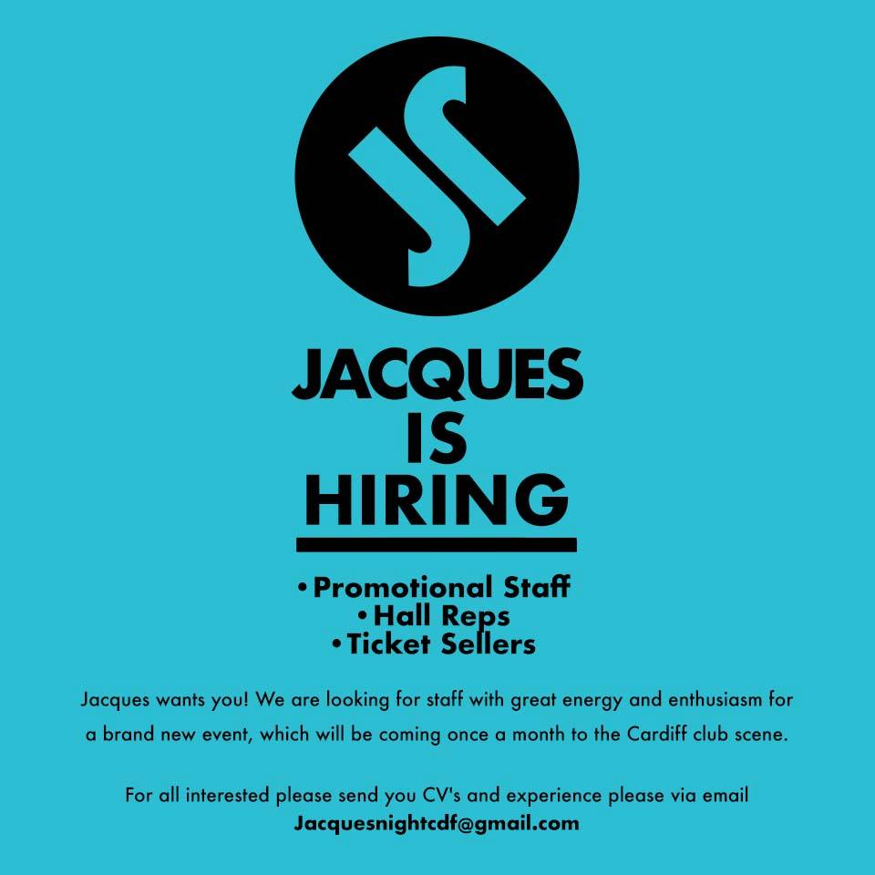 Looking for work? Get in touch ! #Jacques #PROMOTION #tickets #Sales #Cardiff #glam<br>http://pic.twitter.com/DcQVAudX8u