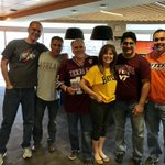A few of our fun employees representing their fav teams at our #FootballFriday #tailgate party! 📣🏈
