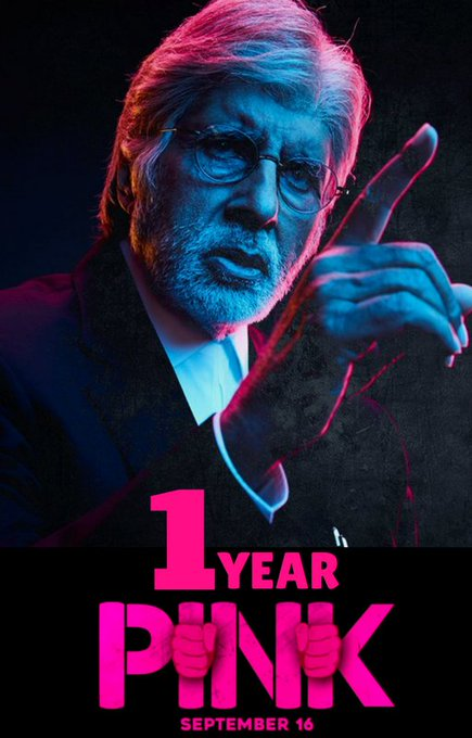 T 2548 - PINK ... I year on September 16 .. an issue that woke up society and gave it a tag line .. NO means NO ! https://t.co/5l6qjYftnO
