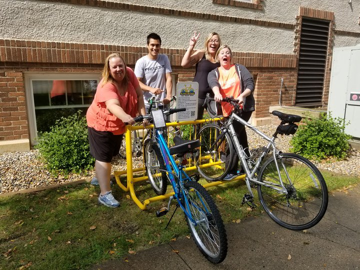 Members of our #ProcoreWillmar team showing off their bikes for #BikeToWorkDay #LifeAtProcore<br>http://pic.twitter.com/ZN7lHiloLm