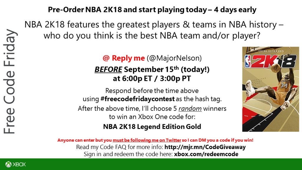 f6e8042b7418 time read this and you could win a code for nba 2k18 legend edition gold on