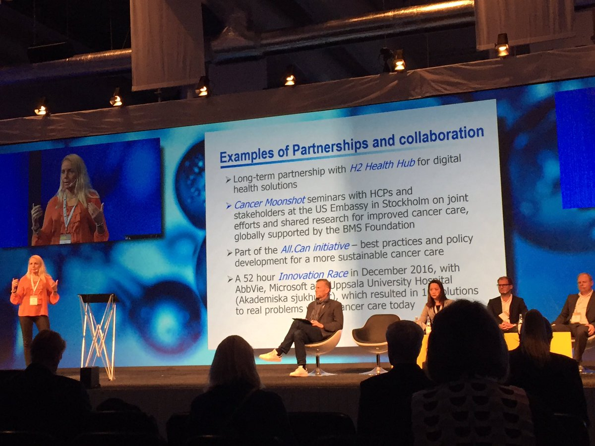 BMS at #nlsdays on partnerships and collaboration. BMS foundation and US embassy in Sweden on cancer moonshot a good example <br>http://pic.twitter.com/bzVoPNlODl
