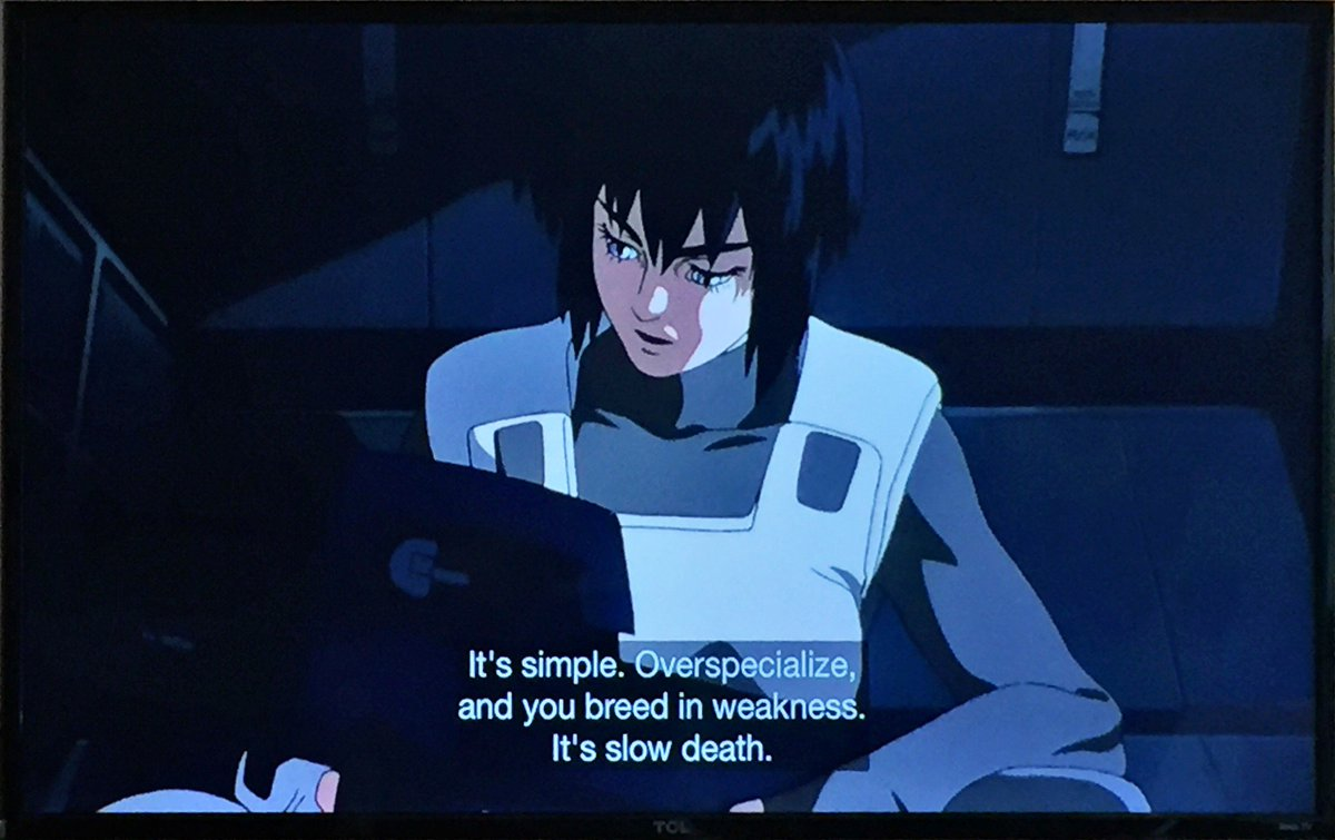 Ghost in the shell on why you want a diverse team https://t.co/2gqGkY0aoz