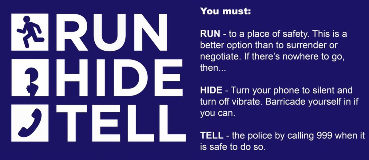 #Run #Hide #Tell together we will defeat the terror threats - this is a #Partnership with our communities - suspicious - report it<br>http://pic.twitter.com/okUraOi7ZE