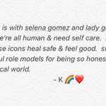 My heart is with @selenagomez & @ladygaga today.