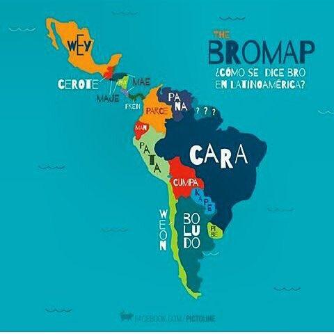 Cómo se dice 'bro' o hermano por el continente latinoamericano. Esta me gustó! https://t.co/TT2OE2Ie1x