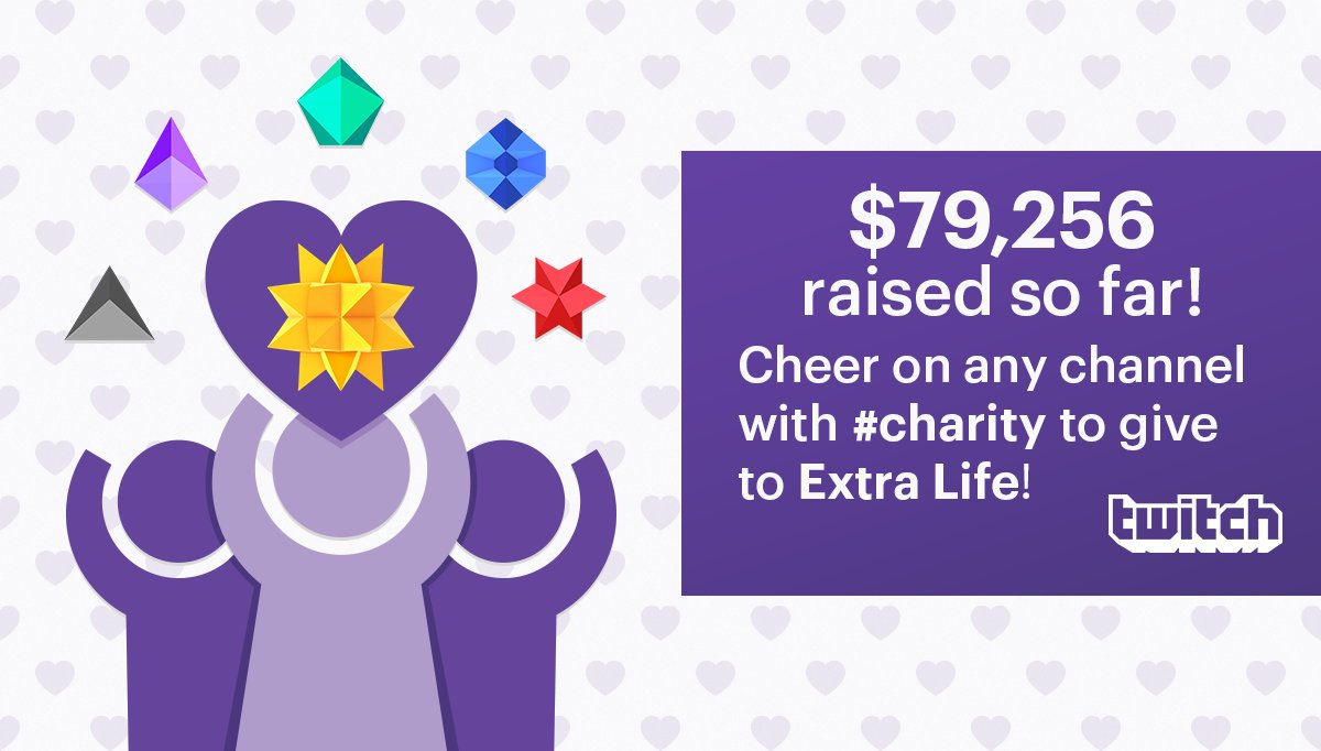 Our Cheer for Kids #charity drive ends 9/19 and so far we've raised $79,256 for @ExtraLife4Kids! Learn More:  https:// watch.twitch.tv/2f1ikH7  &nbsp;  <br>http://pic.twitter.com/J8nWKmX2O1