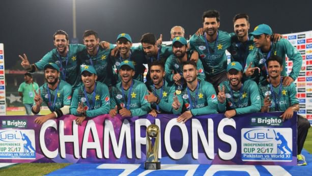 Pakistan beat World XI by 33 runs to win Independence Cup by 2-1 margin after Ahmed Shehzad's 89