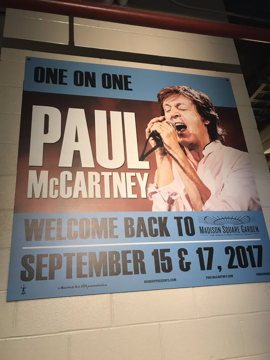 Paul On The Run One On One In New York First Night September 15 2017 Madison Square Garden