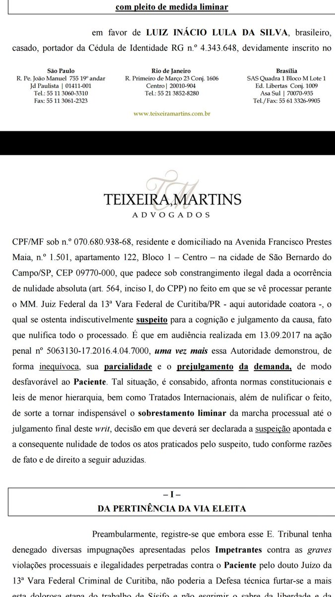 Urgente! Advogados de Lula pedem afastamento de Moro: ele é apontado como um juiz 'suspeito' e 'parcial'. Capas de revistas embasam pedido.