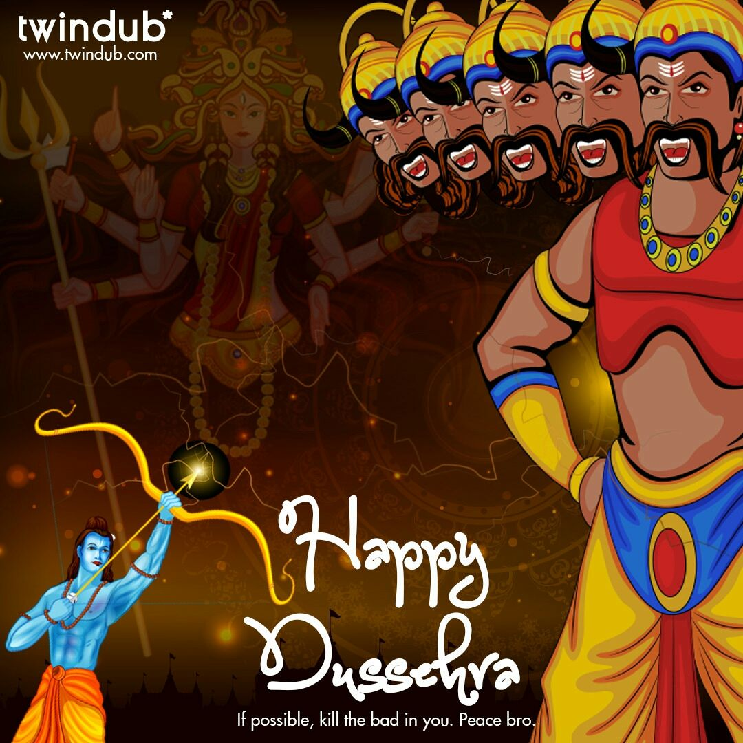 #Twindub wishes you all a happy #Dussehra!<br>http://pic.twitter.com/CGoVoZlEkM