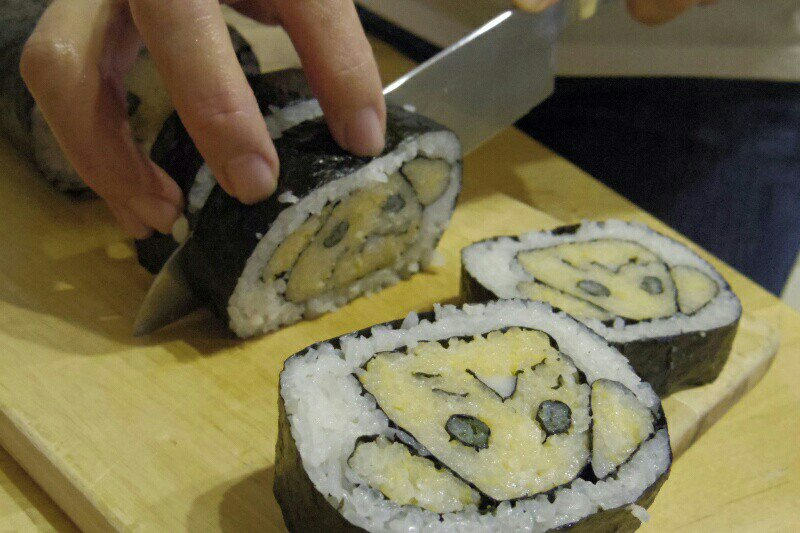 聖剣伝説3、22周年おめでとうございます! なんとかこの目出たい日を祝いたくお寿司を巻きました!  #聖剣伝説3_22th