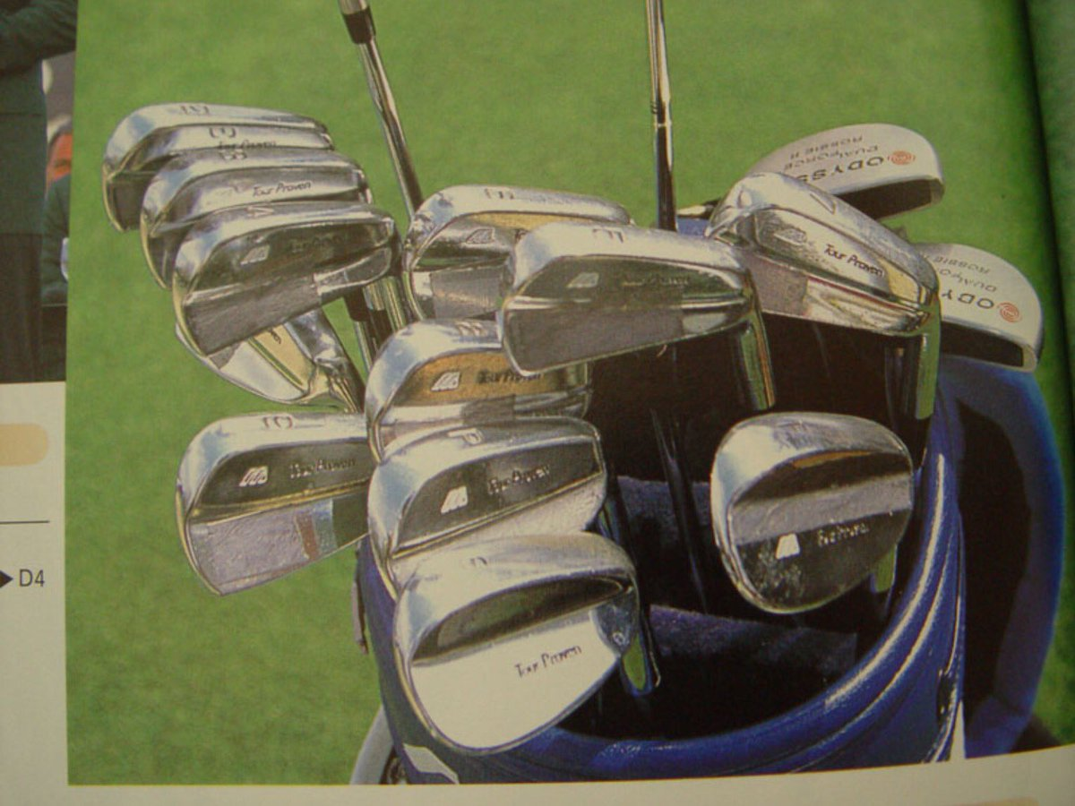 """mid '90s, I sold  over 2k at $900 a pop by just telling the customers """"these are the clubs  @NickFaldo006 uses"""" god help those 15 handicaps"""