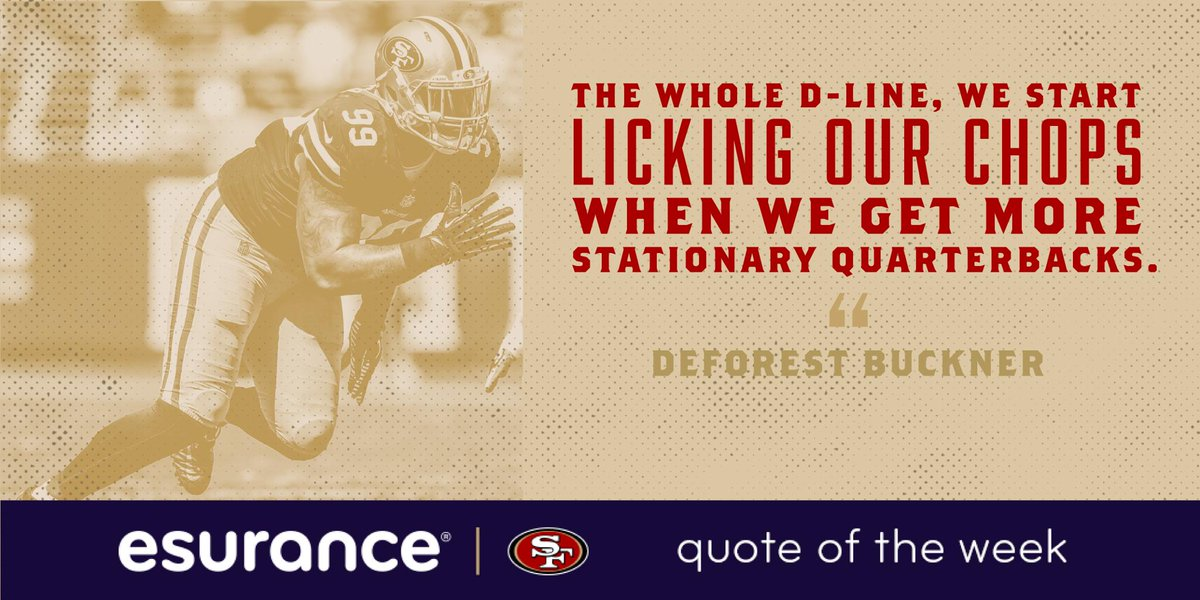 "Esurance Quote Endearing San Francisco 49Ers On Twitter ""stay Hungry Dlineesurance"
